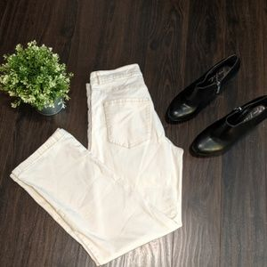 Eileen Fisher white cotton jeans good condition sm